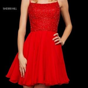 Sherri Hill Cocktail Red